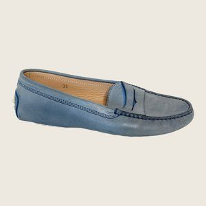 Tod's Gommino Nubuck Leather Slip On Driving Shoes